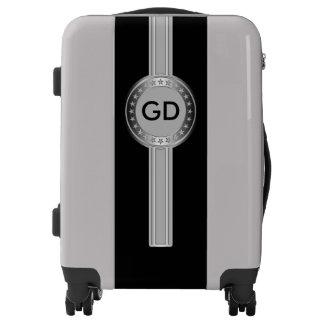 Button / Banner - Stars silver + monogram Luggage