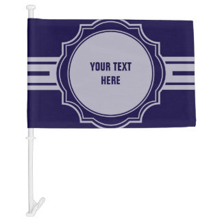 Button / Banner - white transp. XII + your backgr Car Flag