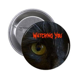 Button: Black Cat Eyes