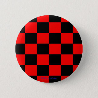 button - black & red checkers