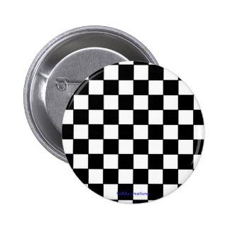 button - black & white checkers