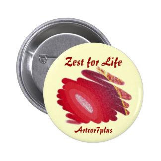 Button - Blaze Zest for Life