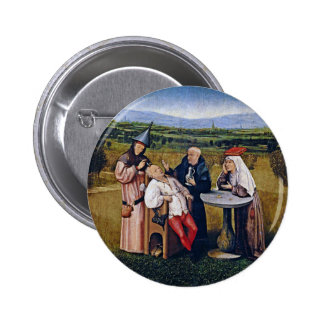 Button: Bosch - Extracting Stone of Madness Pinback Button
