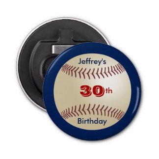 Button Bottle Opener Baseball Party Favor