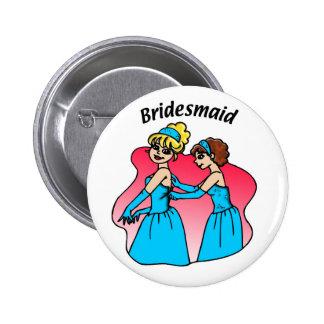 Button: Bridesmaid (Blue) Button