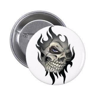 Button, Calavera Pin Redondo De 2 Pulgadas