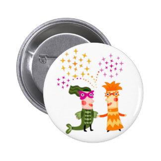 Button Carnival Mask Boton