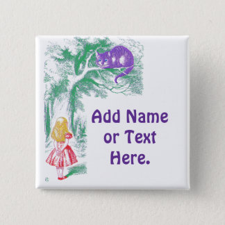 """Button: """"Cheshire Cat"""" from """"Alice in Wonderland"""" Button"""