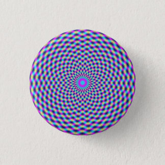 Button   Circular Lattice in Blue and Pink