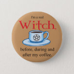 button Coffee Witch