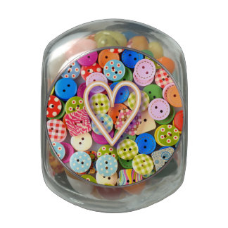 Button Collection Glass Candy Jar