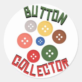 Button Collector Classic Round Sticker