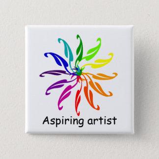 Button - Color Wheel Leaves
