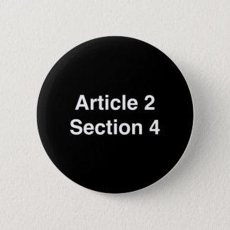 Button:  Constitutional Provision Dump Trump Pinback Button