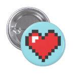 Button Coração 8bits Pin Redondo 2,5 Cm