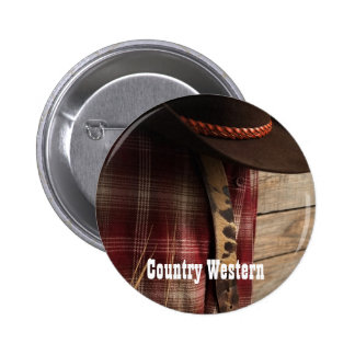 Button: Country Western 2 Inch Round Button