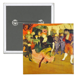 Button:  Dancing the Bolero: Toulouse-Lautrec Pinback Button