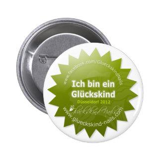 Button de infantil de suerte - Beauty Düsseldorf 2 Pin Redondo De 2 Pulgadas