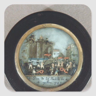 Button depicting the Storming of the Bastille Square Sticker