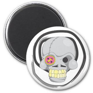 Button Eyed Skull Magnet