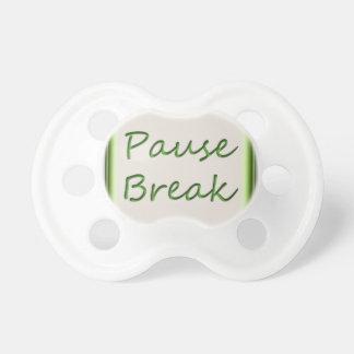Button Fashion Image Pacifier