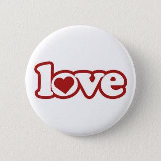 Button Flair, Cute Retro Love Design, Red Heart