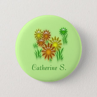 Button - Flower name tag