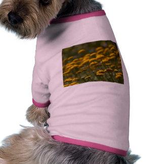 Button Flowers Dog Tee Shirt