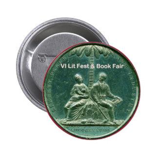 Button for the VI Lit Fest & Book Fair