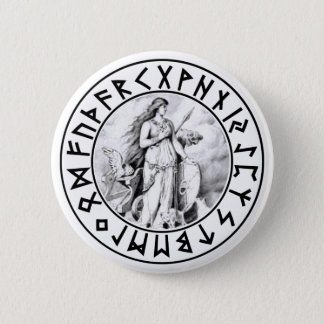 button Freya Rune Shield