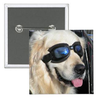 Button genial Dog motero Dog Pin