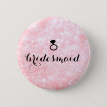 Button - Glitter Ring Bling Pink