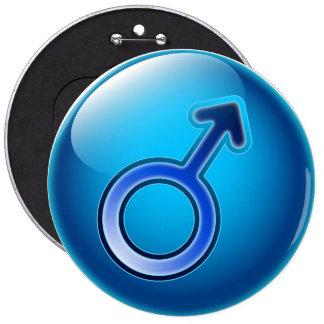 Button glossy gender man symbol