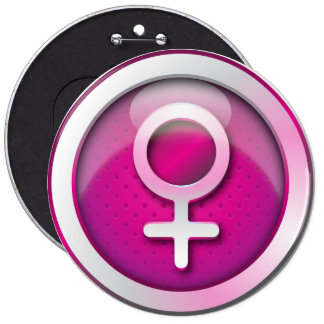Button glossy gender woman symbol