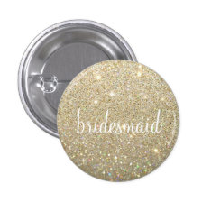 Button - Gold Fab Bridesmaid at Zazzle