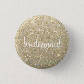 Button - Gold Glitter Fab bridesmaid