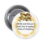 Button: Golden Weddiing Bells - Customized