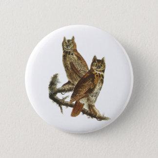 Button: Great Horned Owl by John James Audubon Button