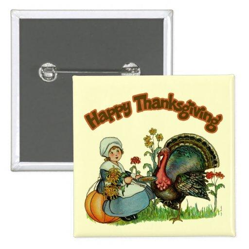 Button - Happy Thanksgiving