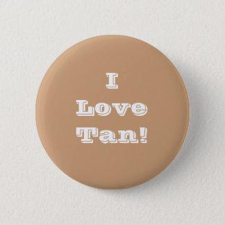 Button I Love Tan