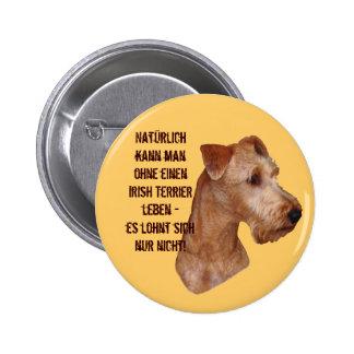 """Button """"Irish Terrier """""""