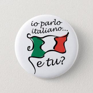Button Italian: Io parlo italiano e tu?