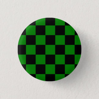 Button Karo black/green