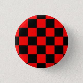 Button Karo black/red