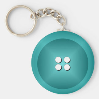 Button Keychain - Turquoise