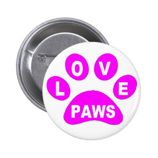 Button Love Paws on Paws Pink