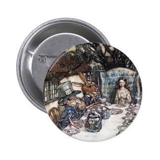 Button: Mad Hatter Tea Party - Alice in Wonderland Pinback Button