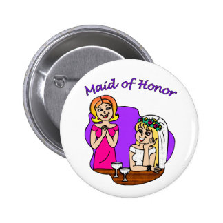 Button: Maid of Honor I 2 Inch Round Button