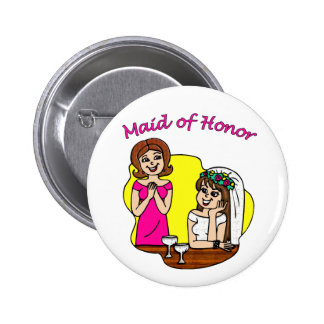 Button: Maid of Honor II 2 Inch Round Button