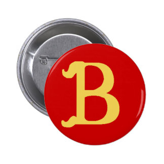Button Monogrammed with the Letter B
